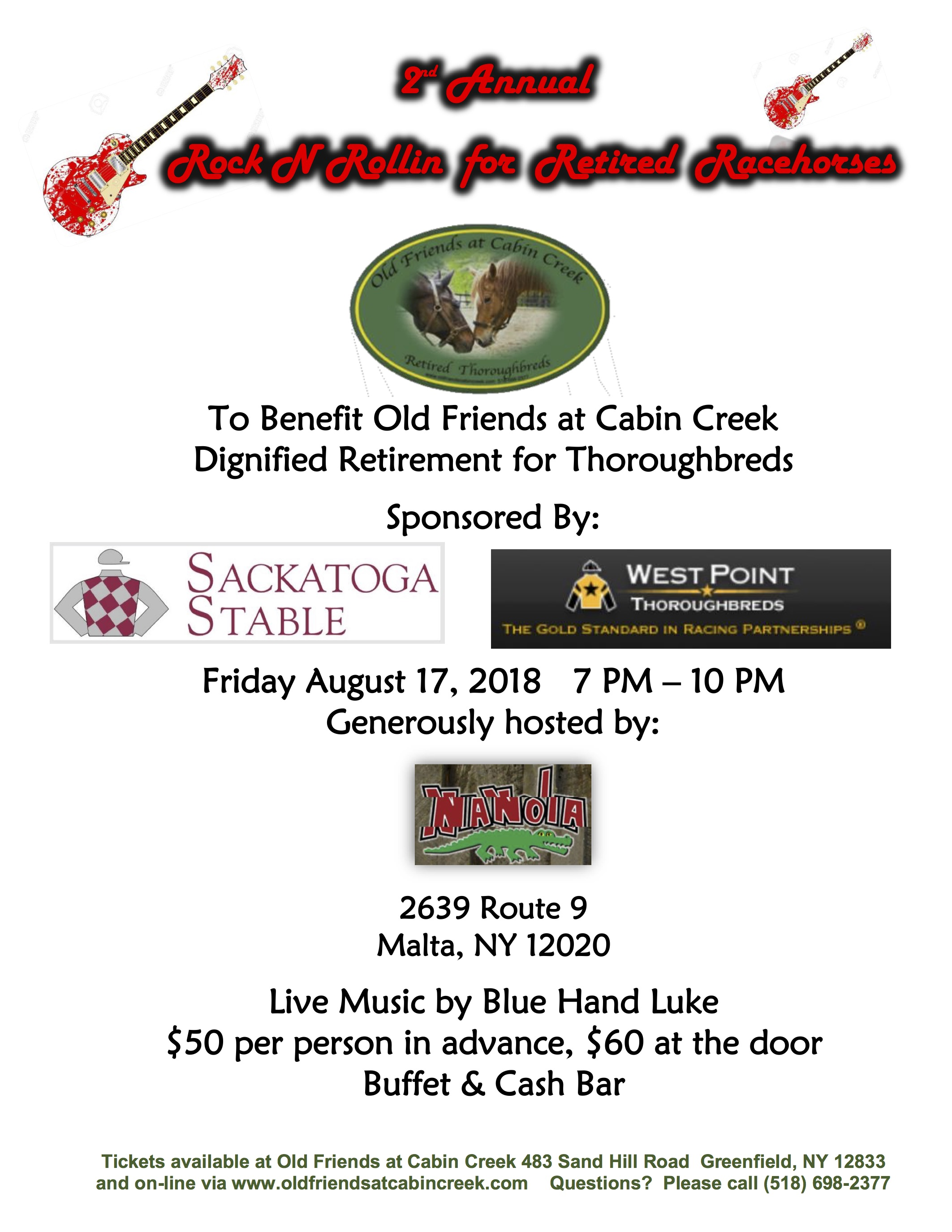 2nd Annual Rock n Rollin' for Retired Thoroughbreds