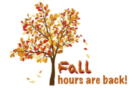 Fall hours are back!