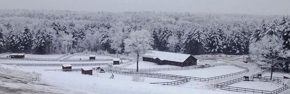 Winter View Of Farm 1000x400w